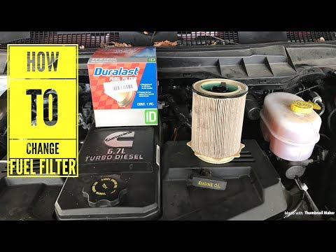 2017 cummins 6 7 fuel filter change - How To video